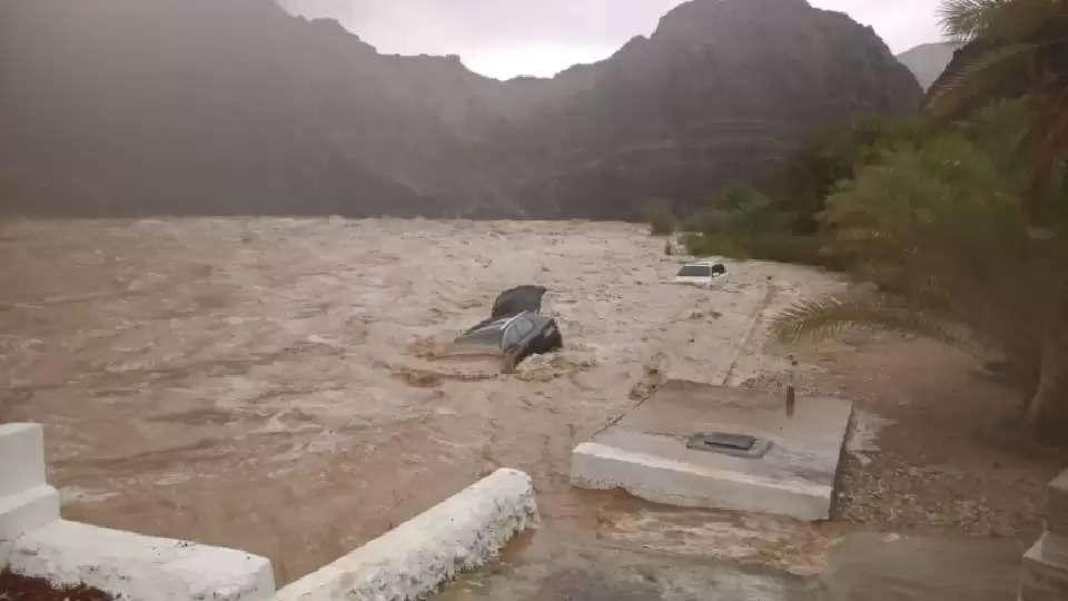 muscat heavy rain