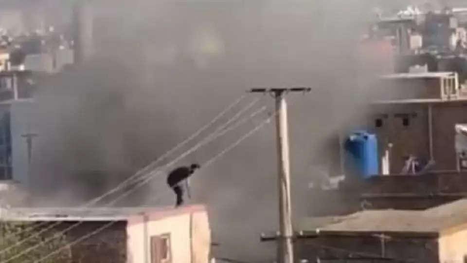 Blast outside Kabul airport again