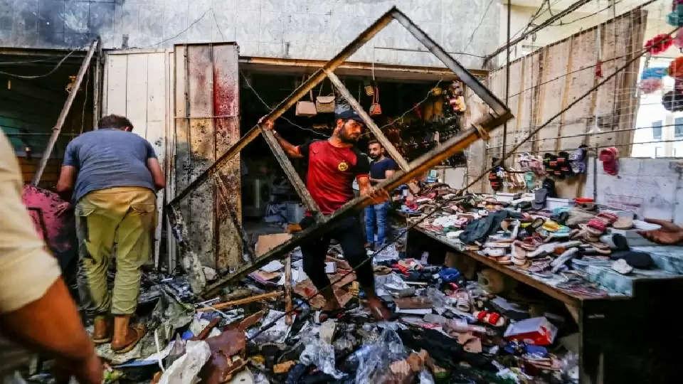 IRAQ bomb balst