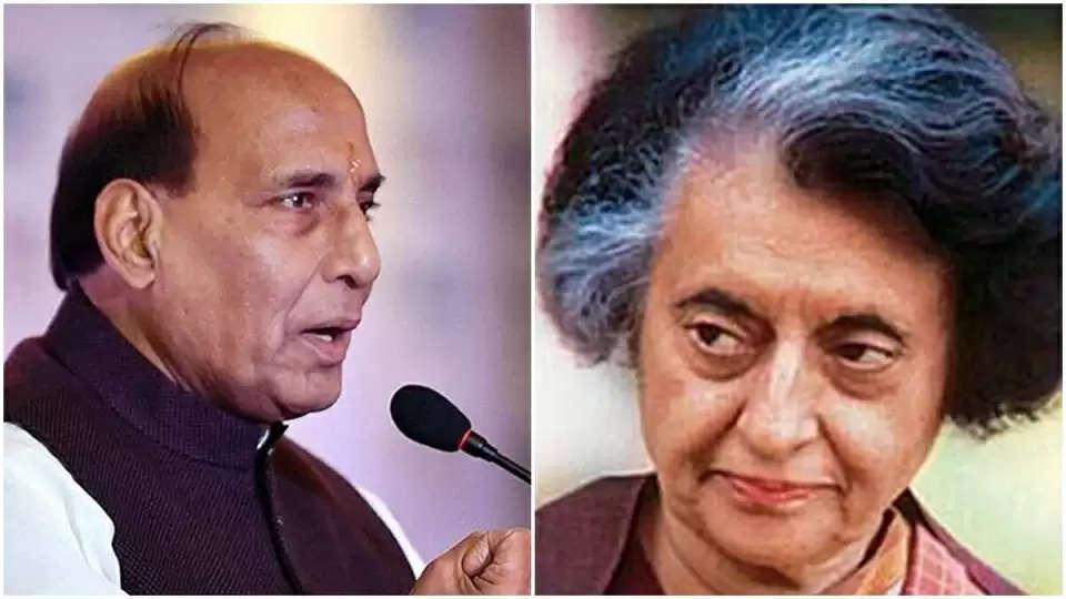 Rajnath hails Indira Gandhi